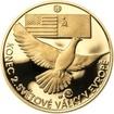 Osvobození Československa 8.5.1945 - 20 mm zlato Proof