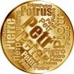 Česká jména - Petr - velká zlatá medaile 1 Oz