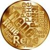 Česká jména - René - velká zlatá medaile 1 Oz