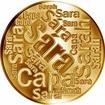 Česká jména - Sára - velká zlatá medaile 1 Oz