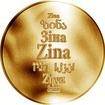 Česká jména - Zina - zlatá medaile