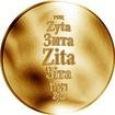 Česká jména - Zita - zlatá medaile
