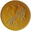 Zlaté znamení zvěrokruhu - lev - b.k. na řetízku