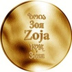 Česká jména - Zoja - zlatá medaile