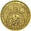 Nejkrásnější medailon III. - Císař a král zlato b.k.
