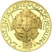 Nevydané mince Jiřího Harcuby - Zal. kláštera Zlatá Koruna 34mm zlato Proof