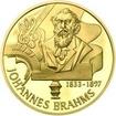 Johannes Brahms - 120. výročí úmrtí zlato proof