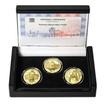 POSTAVEN OBECNÍ DŮM V PRAZE – návrhy mince 200 Kč - sada 3x zlato Proof