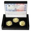 OTTO WICHTERLE – návrhy mince 200 Kč - sada 3x zlato Proof
