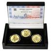 RABÍ JEHUDA LÖW – návrhy mince 200 Kč - sada II. 3x zlato Proof
