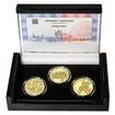 ZALOŽENÍ SOKOLA – návrhy mince 200 Kč - sada 3x zlato Proof