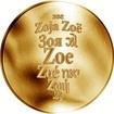 Česká jména - Zoe - zlatá medaile