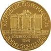 Zlatá mince Wiener Philharmoniker 1 Oz - Šilinková ražba