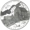 """3 Rubel Silber Kirche """"St. Georg"""" Nordossetien-Alania PP"""