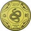 10 dolarů Zlatá mince Rok hada 1/10 oz