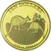 10 dolarů Zlatá mince Klokan - První pozorování PP