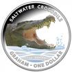 1 dolar Stříbrná mince Slané vody - krokodýl Graham PP