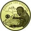 100 dolarů Zlatá mince Hudsonův záliv PP