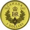 5 dolarů Zlatá mince Diamantové výročí - Královské iniciály PP