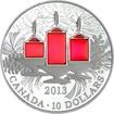 10 dolarů Stříbrná mince Vánoční svíčky PP