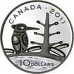 10 dolarů Stříbrná mince Tajga PP