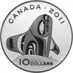 10 dolarů Stříbrná mince Kosatka PP