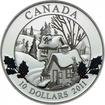 10 dolarů Stříbrná mince Zimní vesnice PP