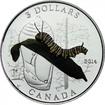 3 Dollar Stříbrná mince Zvířecí architektura - Housenka a kokon PP