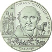 10 Euro Silber Johann Gottfried Schadow PPStříbrná mince