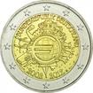 2 Euro CuNi 10 let Euro Cash G OSN