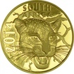 10 Rand Gold Natura Serie 2014 - Nachtjäger: Der Leopard PP