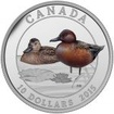 10 Dollar Stříbrná mince Kanadské kahny - Čírka skořicová PP