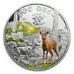 2 Dollar Stříbná mince Svět myslivosti - Srnec  PP