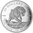 20 Dollar Stříbrná mince Pravěká zvířata - Tygr šavlozubý PP