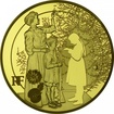 200 Euro Zlatá mince Vánoce v míru PP