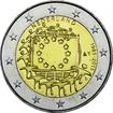 2 Euro CuNi 30 Jahre Europaflagge UN