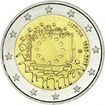 2 Euro CuNi Europaflagge UN
