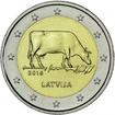 2 Euro CuNi Lettisches Braunvieh UN