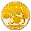 Zlatá mince Panda 15 g - 2017