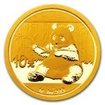 Zlatá mince Panda 1 g - 2017
