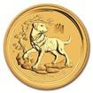 Zlatá mince Rok psa 2018 1/2 Oz