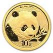 Zlatá mince Panda 1 g - 2018