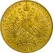 Zlatá mince - 100 Korun