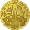 Zlatá mince Vídeňští filharmonici 1 Oz - Šilinková ražba