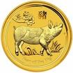 Zlatá mince Rok vepře 2019 1/20 Oz
