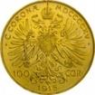 Zlatá mince Stokoruna Františka Josefa I. 1915 (novoražba)