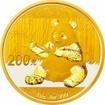 Zlatá mince Panda 15 gramů 2017