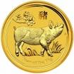 Zlatá mince Rok vepře, Lunární serie II. 1/20 oz 2019