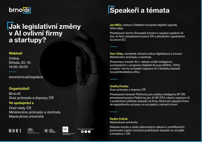 Jak evropská legislativa v umělé inteligenci ovlivní české firmy a start-upy? MPO zve na webinář