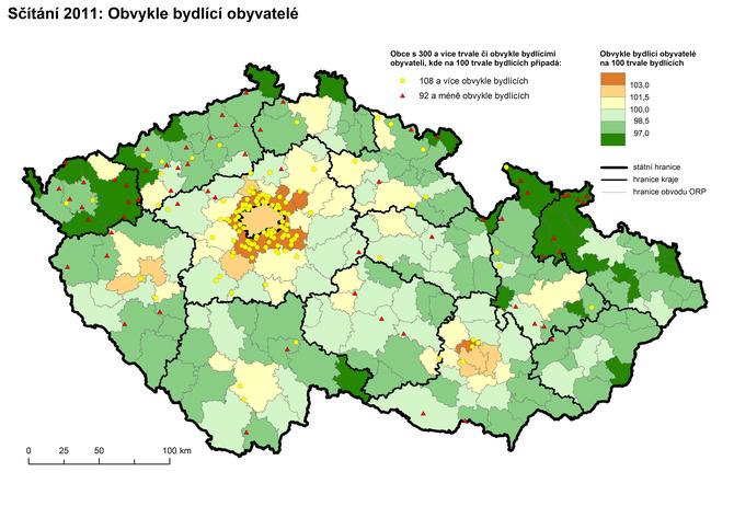 Sčítání 2011: Obvykle bydlící obyvatelé
